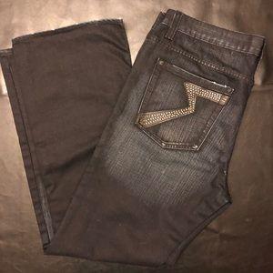 Rock & Republic Deep Blue Jeans, Size: 38